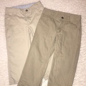 Gymboree Boys Husky 5 (set of 2) Khaki Jeans